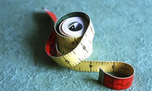 A tape measure